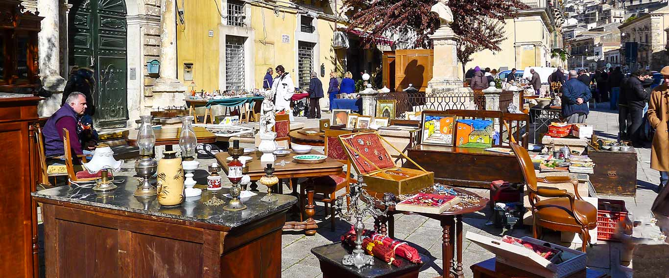 Antique market in Modica Sicily